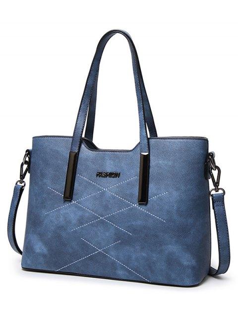 sale Stitching Metal Embellished Shoulder Bag -   Mobile