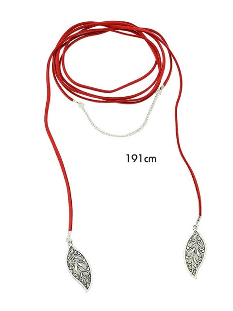 trendy Layered Leaf Necklace -   Mobile
