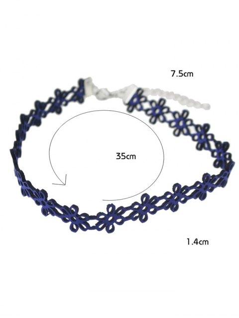 unique Hollow Floral Choker Necklace -   Mobile