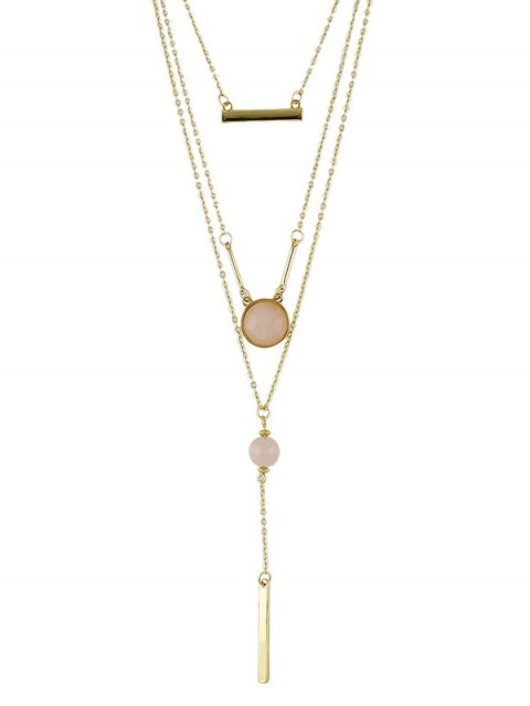 sale Bar Layered Necklace -   Mobile