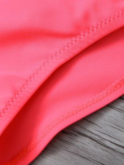 Ethnic Style Printed Bikini Set - WATERMELON RED M Mobile