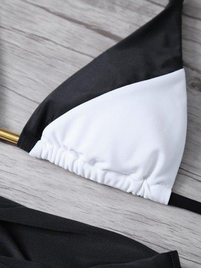 Cami Color Block Bikini Set - BLACK L Mobile