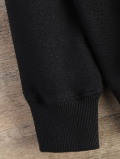 Gesture Graphic Pullover Sweatshirt - BLACK M Mobile