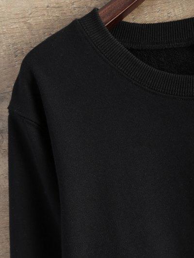 Gesture Graphic Pullover Sweatshirt - BLACK S Mobile