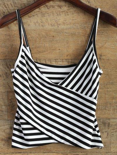 Striped Surplice Cami Top - Stripe