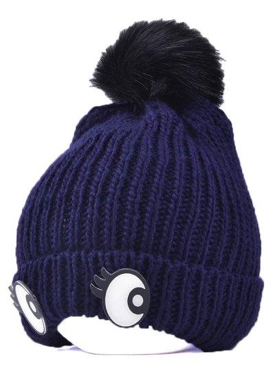 Knitting Patterns Eyes Pom Hat - CADETBLUE  Mobile