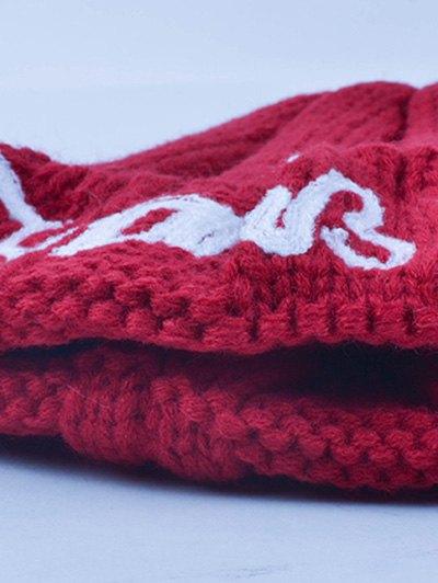 Knitting Patterns Letter Hat - BURGUNDY  Mobile