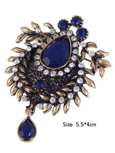Enamel Faux Gem Scorpion Brooch - BLUE  Mobile