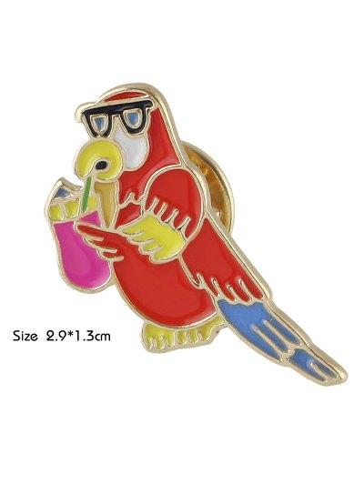 Adorn Bird Brooch - RED  Mobile