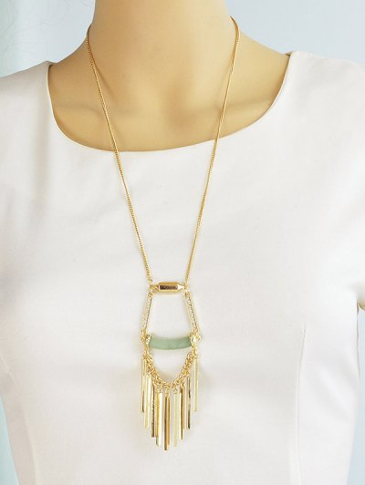 Hollow Geometric Necklace - GOLDEN  Mobile