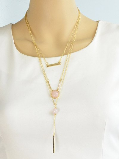 Bar Layered Necklace - GOLDEN  Mobile