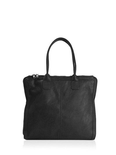 Retro PU Leather Handbag - BLACK  Mobile