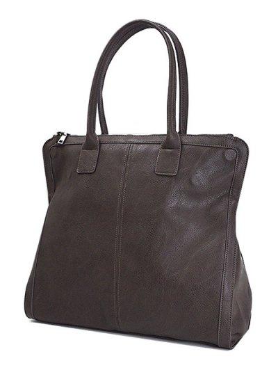 Retro PU Leather Handbag - DEEP BROWN  Mobile