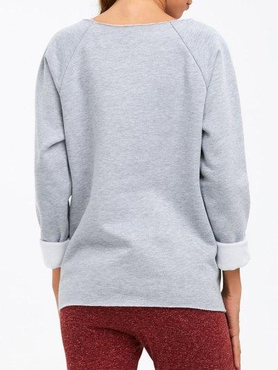 I am Terrific Pullover Sweatshirt - GRAY 2XL Mobile