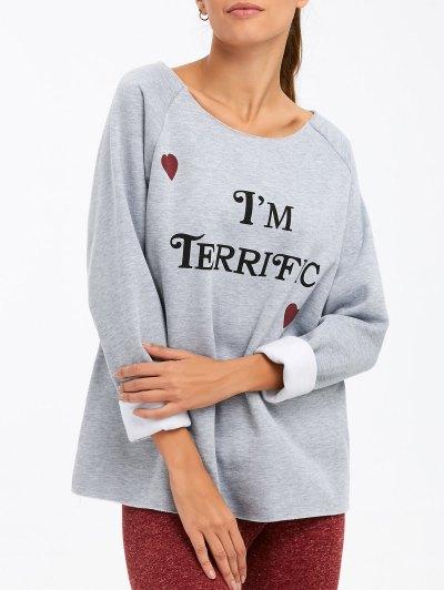 I am Terrific Pullover Sweatshirt - GRAY S Mobile