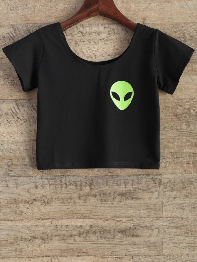 Funny Crop Top - BLACK M Mobile
