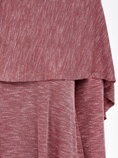 Overlay High Low Hem T-Shirt - RUSSET-RED XL Mobile