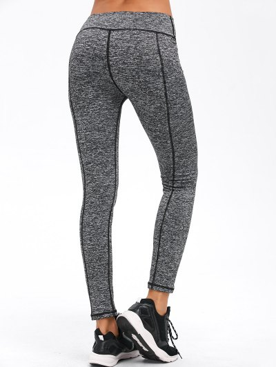 Striped Slim Exercise Pants - GRAY XL Mobile