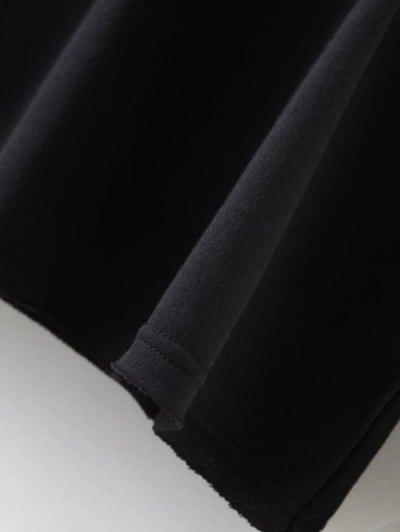 Streetwear Letter Loose Sweatshirt - BLACK S Mobile