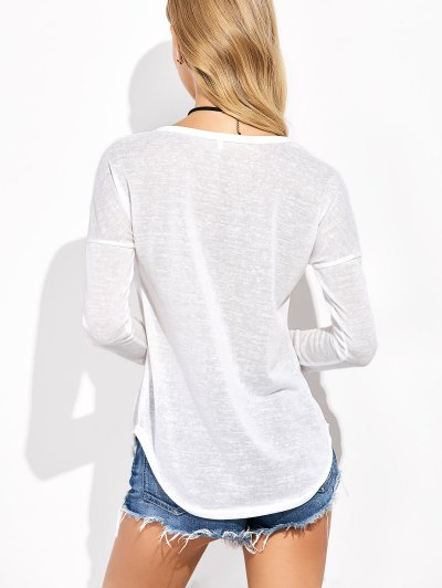 Sequins Elk Graphic Tee - WHITE L Mobile