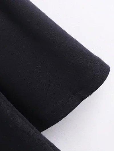 Round Collar Shift Dress - GREEN L Mobile