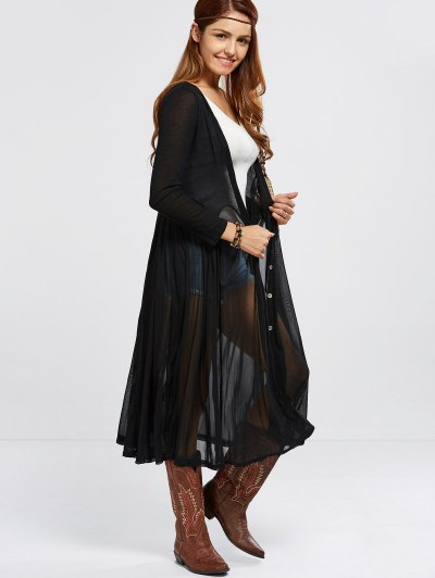 Duster Cardigan - BLACK ONE SIZE Mobile