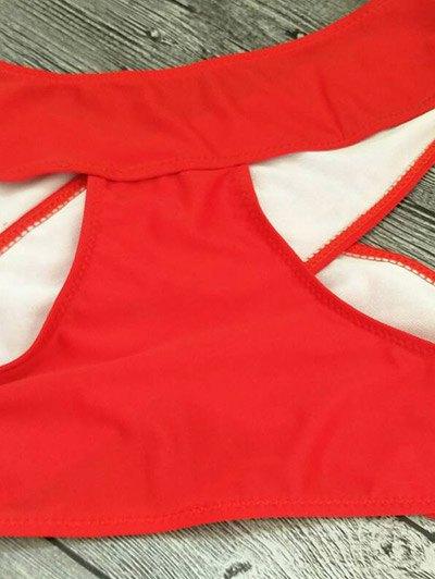 Cut Out Bandage Bikini Set - RED S Mobile
