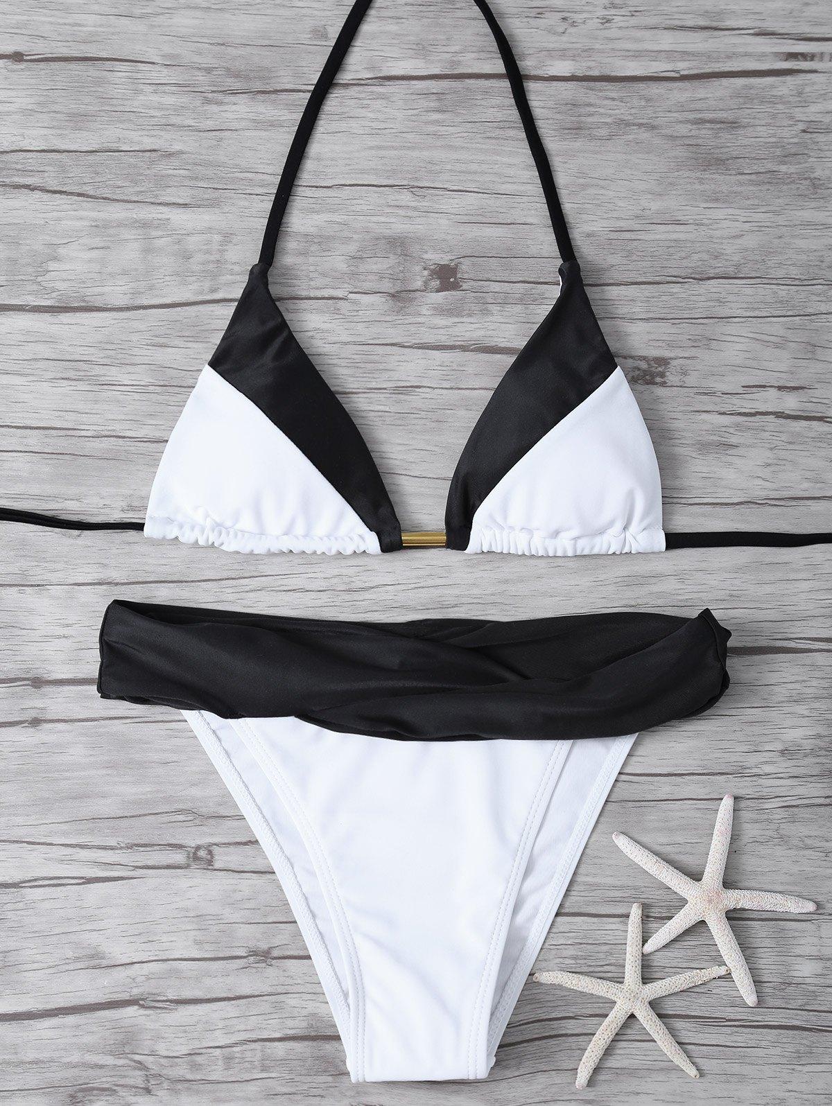 Cami Color Block Bikini Set