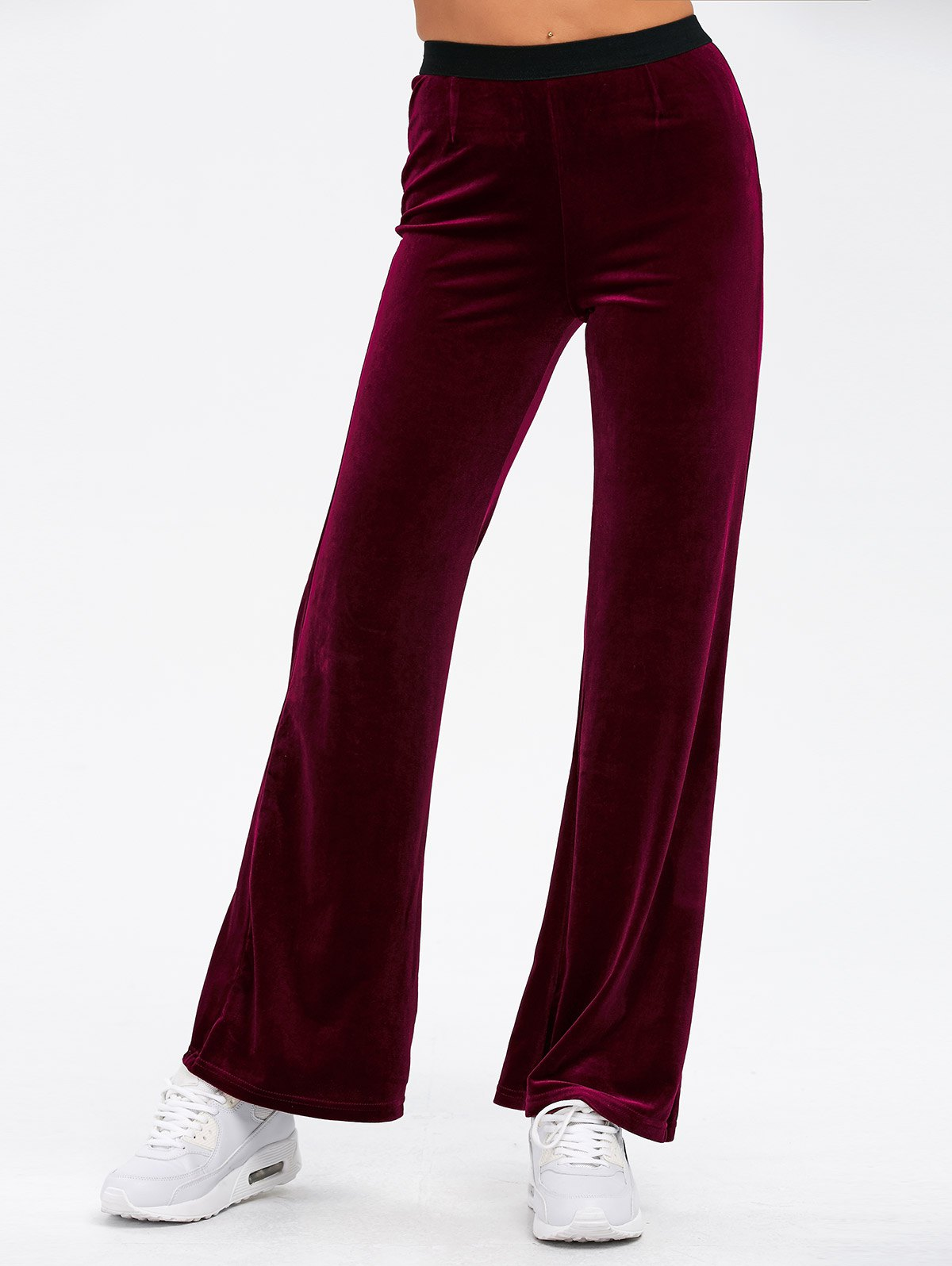 Cosy Velvet Boot Cut Pants 198778601