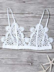 Crochet Flower Unlined Bra