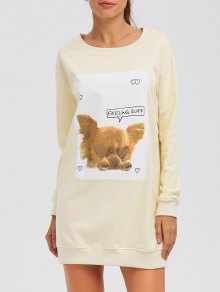 Puppy Graphic Long Sweatshirt