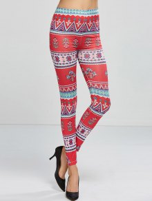 Patterned Skinny Leggings