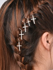 5 PCS Adorn Crucifix Hair Accessories
