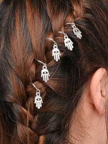 5 PCS Hand Devil Eye Hair Accessory