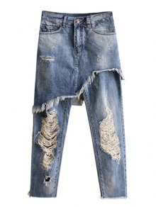 Buy Asymmetric Ripped Jeans