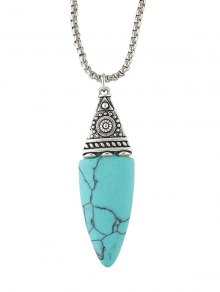 Oval Faux Turquoise Necklace
