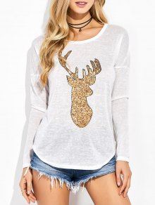 Buy Sequins Elk Graphic Tee