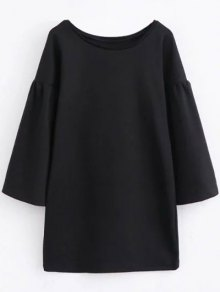 Round Collar Shift Dress
