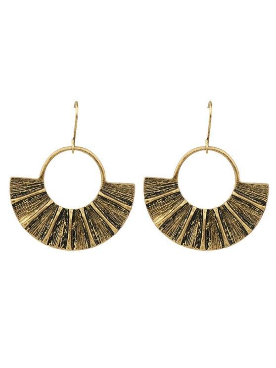 women's Circle Fan-Shaped Earrings - GOLDEN