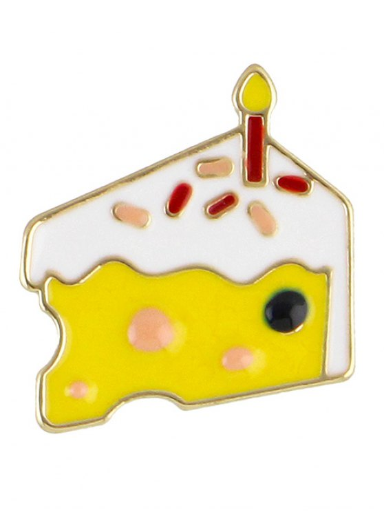 Adorn Cake Brooch - YELLOW  Mobile