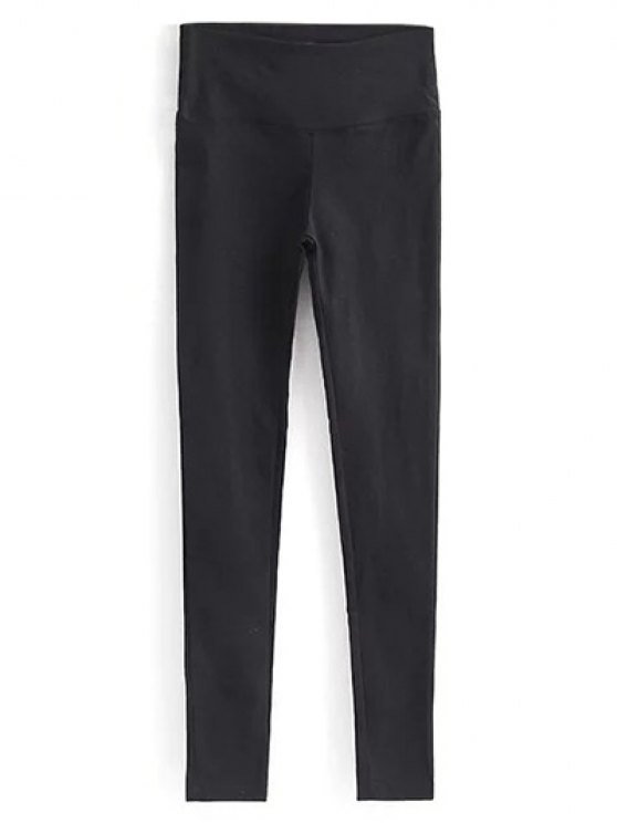 Casual Stretchy Pencil Pants - BLACK L Mobile