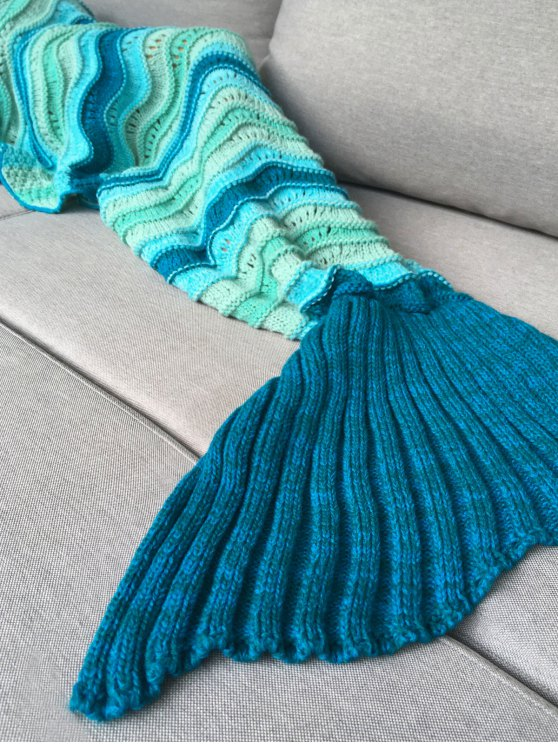 Knitted Kids Mermaid Blanket - COLORMIX  Mobile