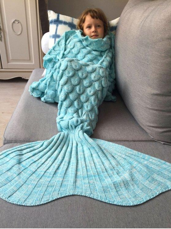 Knitted Mermaid Blanket for Kids -   Mobile