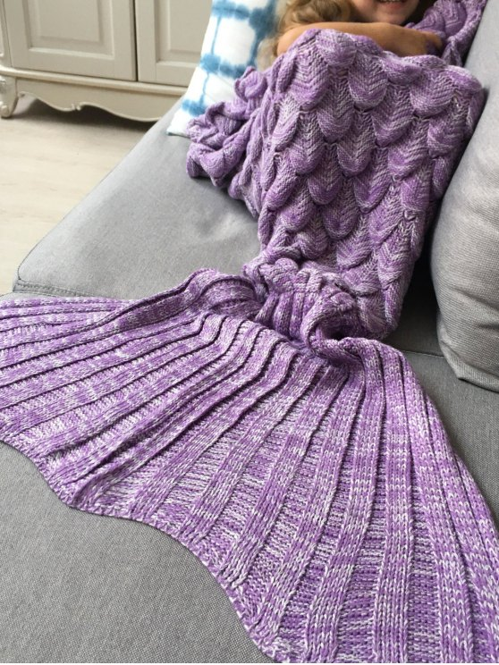 Knitted Mermaid Blanket for Kids -   Mobile