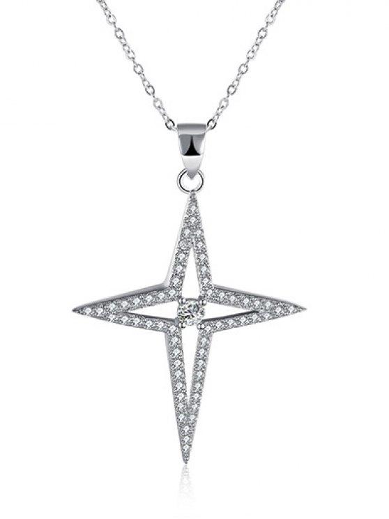 North Star S925 Diamond Necklace -   Mobile