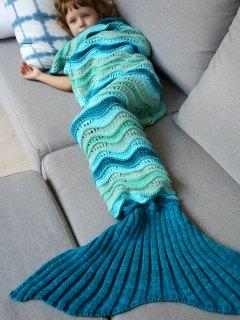 Knitted Kids Mermaid Blanket