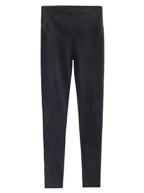 buy Casual Stretchy Pencil Pants - BLACK S Mobile