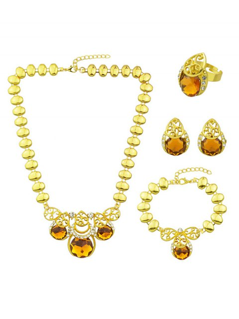 sale Faux Gem Necklace Earrings Bracelet and Ring -   Mobile