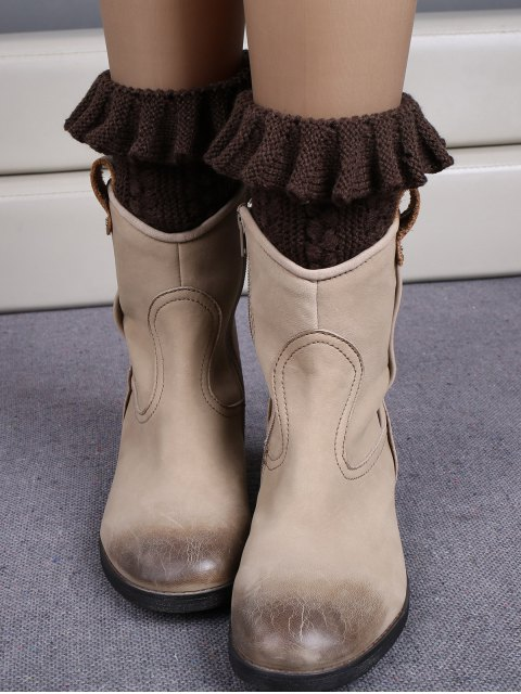 sale Ruffled Knit Boot Cuffs -   Mobile