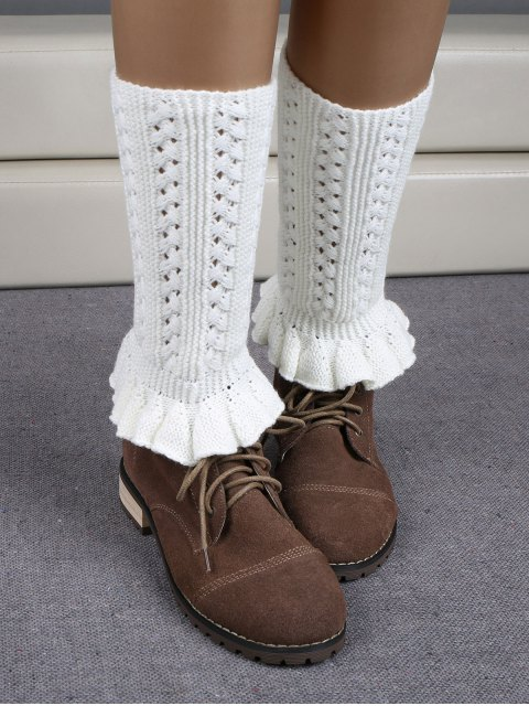 buy Ruffled Knit Boot Cuffs -   Mobile